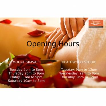 Harmonious Balance Massage – Opening Hours